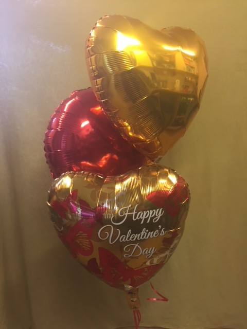 Set of three Valentine Balloons