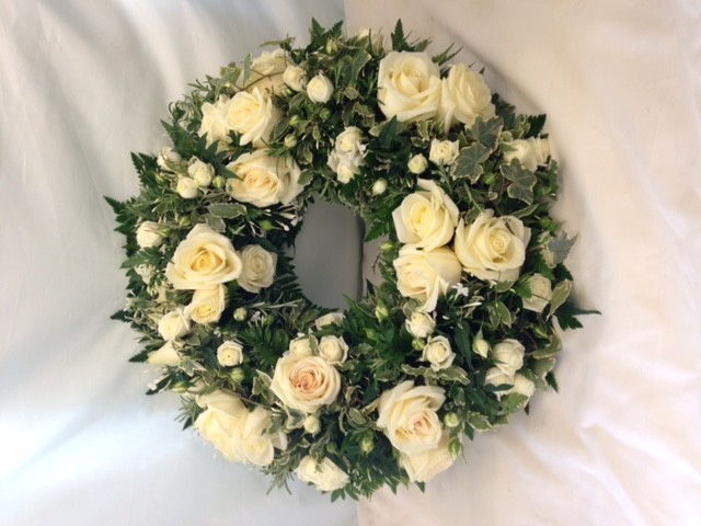 White Rose Wreath