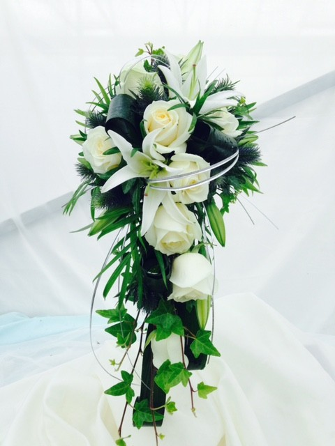 Rose and Lily Shower Bouquet
