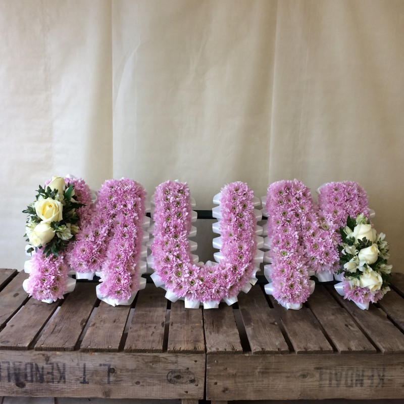 MUM in Floral Letters
