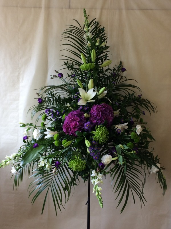 Purple and White Pedestal