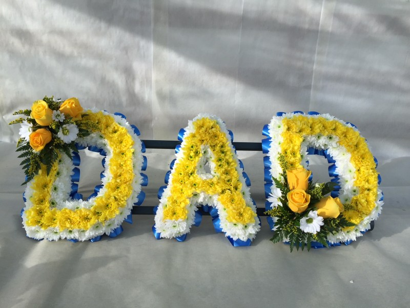 DAD in Floral Letters