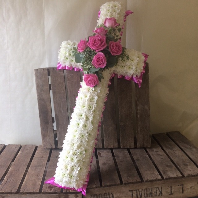 Pink and White Cross