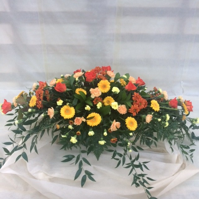 Orange and Yellow Coffin Spray