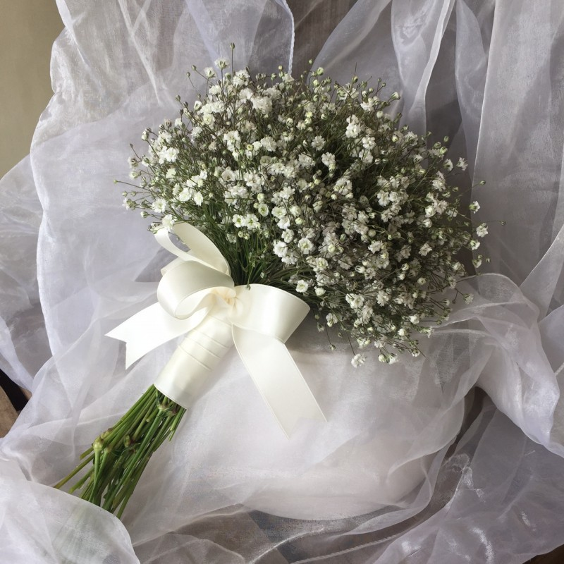 Gypsophilia bouquet.