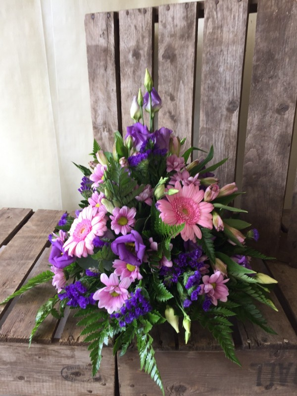 Pink and Purple Posy Arrangement