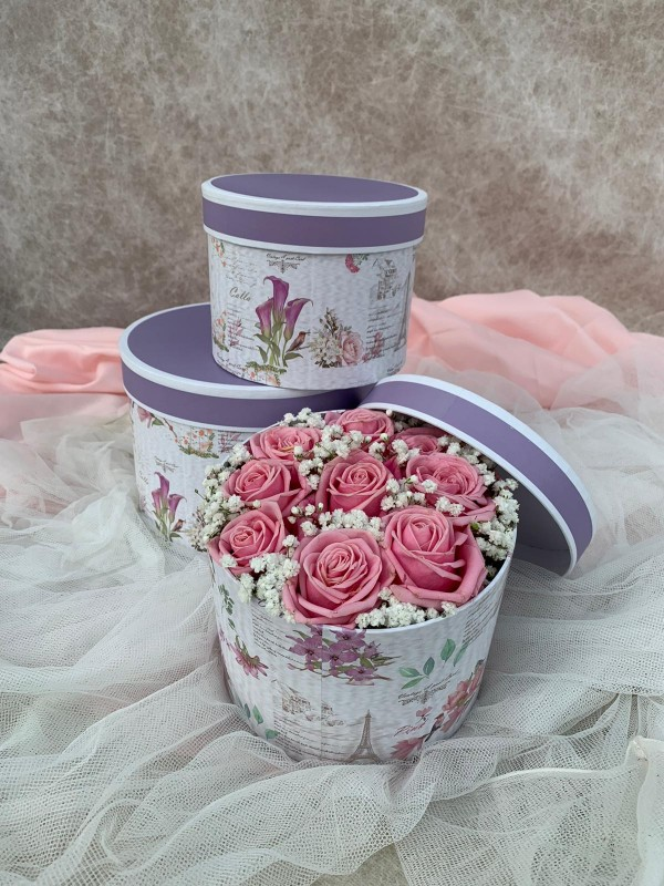 A Rose Hat Box